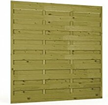 Sichtschutzzaun | Holz | 180x180x3x3 | Dichtzaun Holzzaun Gartenzaun Garten Zaun Windschutz | Kiefer | Massiv | Natur | Druckimpregniert | Wooder