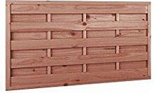 Sichtschutzzaun | Holz | 90x180x3,5x4,5 | Dichtzaun Holzzaun Gartenzaun Garten Zaun Windschutz | Kiefer | Massiv | Braun | Druckimpregniert | Wooder