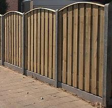Sichtschutzzaun Holz Beton 200x190cm