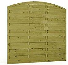 Sichtschutzzaun | Holz | Bogen | 180x180x3x4,5 | Dichtzaun Holzzaun Gartenzaun Garten Zaun Windschutz | Kiefer | Massiv | Natur | Druckimpregniert | Wooder