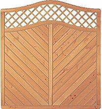 Sichtschutzzaun Holz Douglasie Bogen 180 x 180/190