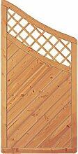 Sichtschutzzaun Holz Douglasie Bogen 90 x 180/140