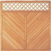 Sichtschutzzaun Holz Douglasie Gitter 180 x 180 cm