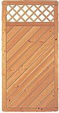 Sichtschutzzaun Holz Douglasie Gitter 90 x 180 cm