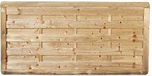 """Sichtschutzzaun Holz massiver Gartenzaun Maß 180 x 90 cm (Breite x Höhe) aus Kiefer / Fichte Holz, druckimprägniert """"Bremen"""