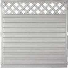 Sichtschutzzaun Kunststoff Gitter grau 180 x 180