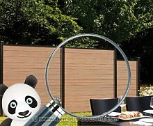 Sichtschutzzaun WPC System Set mandel, 178x183cm -