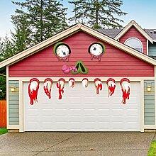 SICOHOME Halloween-Monster-Gesichtsdekorationen,