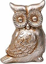 Sid KE 1093l 16cm Dekoration Figur Eule–Silber