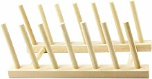 SIDCO Brettchenständer Tellerständer Buchen Holz
