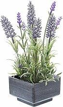 SIDCO ® Deko Lavendel Topf Kunstpflanze künstliche Blume Pflanze Zimmerpflanze Lavender