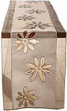 SIDCO ® Tischläufer Organzablüte Tischdecke Tischtuch Tischband Landhaus Läufer 40 x160