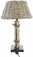 SIDCO Tischlampe Nachttischlampe Leuchte Korblampe