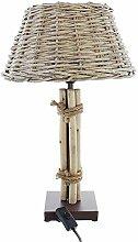 SIDCO Tischlampe Tischleuchte Korblampe