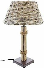 SIDCO ® Tischleuchte Treibholz Lampe Holz