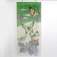SIDCO Türvorhang Bambus Vorhang Schmetterling