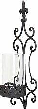 SIDCO ® Wand Windlicht Schwertlilie Metall Kerzenhalter Glaswindlicht Garten Laterne