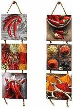SIDCO Wandhänger 2 x 3er Küchenbild Spicy