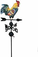 SIDCO Wetterhahn Windrad Windspiel Metall Hahn