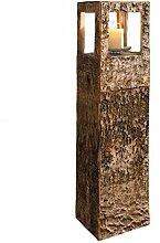 SIDCO Windlicht-Säule Birkenrinde Kerzenhalter
