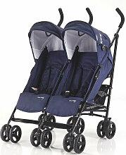 Side by Side Knorr-Baby Zwillings-Buggy Blau