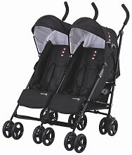 Side by Side Knorr-Baby Zwillings-Buggy Schwarz
