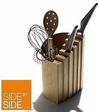 Side by Side Schweizer Messer-Block aus Ahorn-Holz