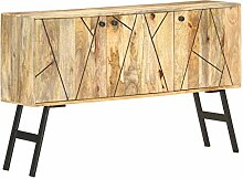 Sideboard 118 x 30 x 75 cm Massivholz Mango
