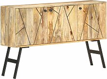 Sideboard 118x30x75cm Massivholz Mango Hellbraun