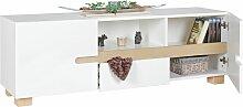 Sideboard 150 x 52 x 42 cm weiß skandinavisch