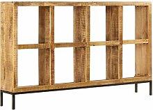 Sideboard 160 x 25 x 95 cm Mangoholz Massiv,Mit 8