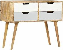 Sideboard 85 x 40 x 71 cm Massivholz Mango - Braun