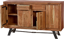 Sideboard Akazienholz mit Metall in natur 4