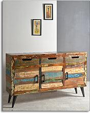Sideboard Altholz mit Metallbeinen in bunt 3