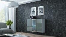 Sideboard Hängesideboard LUGO 120x38x90 cm Weiss