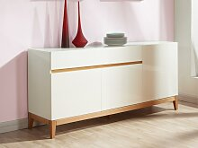 Sideboard Hochglanz SEDNA - 3 Türen + 1 Schublade