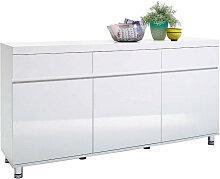 SIDEBOARD Hochglanz Weiß