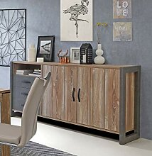 Sideboard in grau/ Kiefer