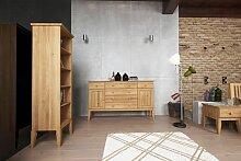 Sideboard Kommode LENNES Buche massiv 168x100x45 cm