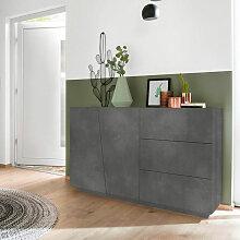 Sideboard Kommode modern 2 Türen 3 Schubladen