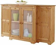 Sideboard Küchenkommode Esszimmerschrank CONNY Breite 150 cm Kiefer massiv, gebeizt geöl