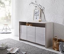 Sideboard Live-Edge Akazie White Washed 147 cm