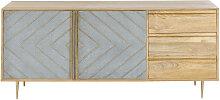 Sideboard mit 2 Türen und 3 Schubladen, massives