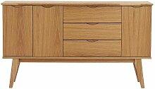 Sideboard mit Eiche Furnier 150 cm breit