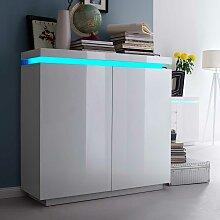 Sideboard mit LED Farbwechsel Beleuchtung Weiß