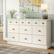 Sideboard Moshe House of Hampton Farbe: Weiß