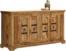SIDEBOARD Sheesham massiv Naturfarben