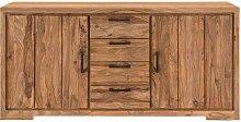 Sidebord aus Sheesham Massivholz 85 cm hoch