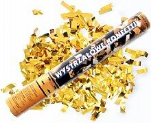 SiDeSo® 5 Stück 40cm Konfetti Shooter gold metallik Hochzeit Deko Silvester Party Feier