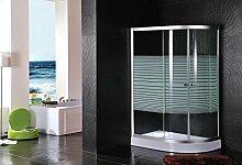Siebdruck Duschkabine 120x 80x 195mit